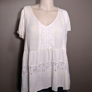 Eyeshadow Lace Babydoll Shirt Size 1x